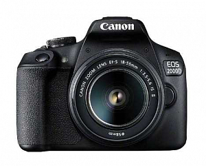Фотоаппарат цифровой Canon EOS 2000D 18-55 IS  (Black)